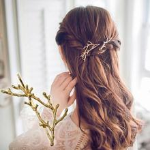 t304 Korea hair accessories Sin Mei branch antlers alloy side folder fashion personality Princess clip wholesale