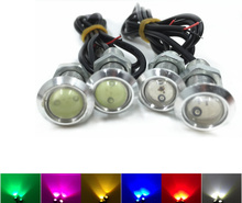 New Style with Screws Hawkeye 18mm 1.5W Car Lights LED Car Taillight Chandeliers - Black Shell 6 colors Ray(China)
