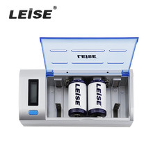 LEISE 902 Intelligent LEISE-902 Fast Independent Charger Set Multi Slot Independent Charger + 2 x D Battery + 1 x Cable