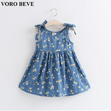 VORO BEVE 2017 Summer Children Clothes Baby Girl Clothes Daisy Design Cotton Dress Princess Dress Fashion Girl Sundress