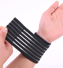 Nylon and spandex material black adjustable breathable elastic wrist support   free shipping   #ST6825