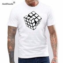 Nuevo Rubik Rubix Cube Qube puzle Blocks Retro Gaming camiseta divertida hombres  Camiseta Hombre Ropa manga 8668b900410