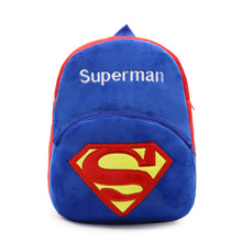 26*32*9.5cm Boy's School Bags Children Cartoon Superman Backpacks Boy Car Book Bags Kids Satchel Gifts Plush Knapsacks Mochila(China)