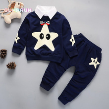 Fashion Kids Clothes Starfish Embroidery boy's clothing set Comfortable Warm Children Clothing Girl Winter Clothes Kids