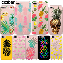 Fruit Pineapple Banana Watermelon Design Phone Case for iphone 8 7 6S 6 PLUS X 5S SE 5 Silicone Soft Clear TPU Fundas Capinha(China)