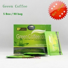 5 Box = 90 bags, Losing weight Green Coffee 1000, For weight loss Fat Burning Slimming Tea, reduce cellulite's diet Tea