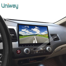 uniway 2G+16G 2 din android car dvd for honda civic 2006-2011 2008 car radio gps navigation support mirror link steering wheel