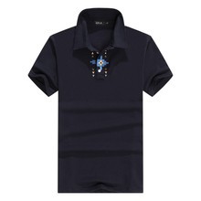 New 2017 Men's Brand Polo Shirt For Men Designer Polos Men Cotton Short Sleeve shirt sports jerseys golf tennis Free Shipping(China)