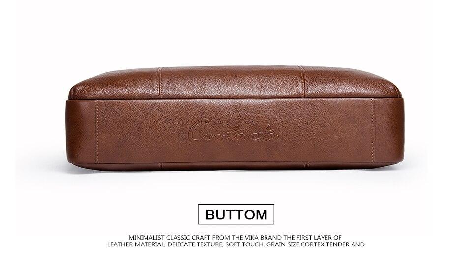 """حقيبة لابتوب من الجلد الطبيعي لرجال الاعمال 15.6"""" 10"""
