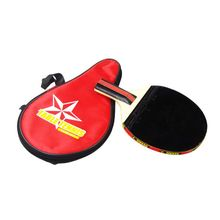Long Handle Shake-hand Table Tennis Racket Ping Pong Paddle Waterproof Bag Pouch Red Indoor Table Tennis Accessory