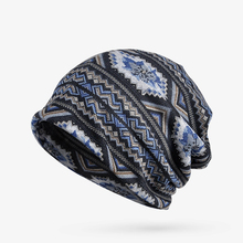 Dual purpose hats, jacquard patterns, men and women in autumn, men and women shopping, wind protection, warm sets of hats(China)