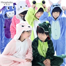 Cosplay Onesie Kids Cartoon Pyjamas Kids Animal Pajamas for Boys Girls Baby Christmas Pajamas Cat Panda Children Pajamas Unicorn(China)