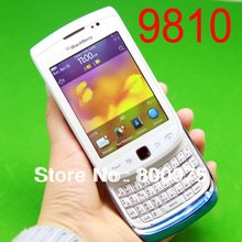 9810 Original BlackBerry Torch 9810 Mobile Phone Smartphone Unlocked QWERTY 3G Wifi GPS Cellphone & White