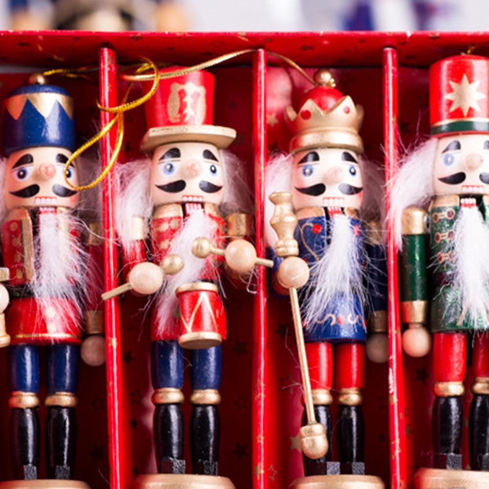 2018 Christmas Decorations Wooden Nutcracker Puppet Soldier 12CM 4 ...