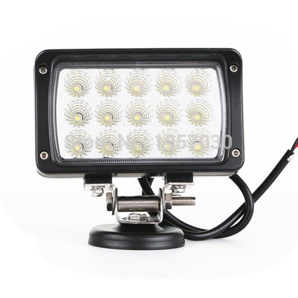 1pcs 45W Auto Square Led Work Light Fog Lamp For Wrangler Auto Truck <br><br>Aliexpress