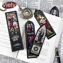 30 pcs/box Vintage art wall painting paper bookmark stationery bookmarks book holder with ruler message card school