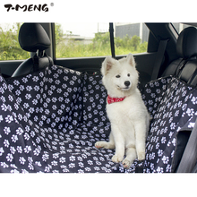T-MENG Hot Dog Car Seat Covers Collapsible Oxford Fabric Black Bench Seat Travel Accessories For Dogs Pets Car Seat Mat Supplier(China)