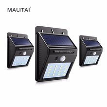Solar Power LED Solar light Outdoor Wall LED Solar lamp With PIR Motion Sensor Night Security Bulb Street Yard Path Garden lamp(China)