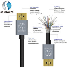 ANNNWZZD Cable HDMI 4k with Ethernet fully HDCP compliant / HD Ready / 3D TV / 1080p - 2160p 4K(China)