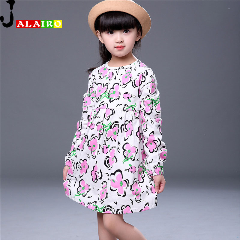 Princess Girl Dresses Spring Autumn Long Sleeve Childrens Dress School Dress 1-8Y Girls Party Dresses<br><br>Aliexpress