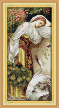 Classic Style Oil Painting The girl and goose Counted Cross Stitch 14CT&11CT Embroidery Kit DIY Crafts Needlework Kits