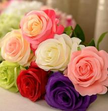 Simulation flower silk flower artificial flowers roses Valentine Rose Bouquet marriage wedding home table decorations