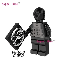 1PCS star wars superhero Death Star Droid C-3PO SW212 building blocks action sets model bricks toys for children(China)
