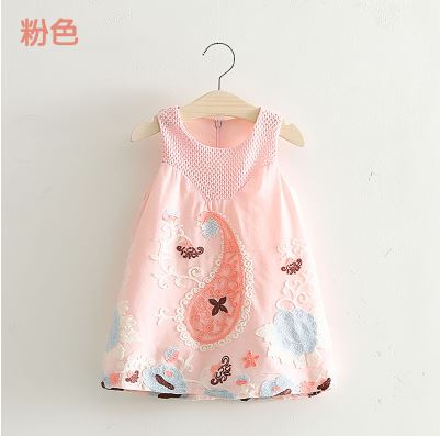 2016 baby dress baby  girl summer dress girl clothes cotton embroidered vest dress  children   dress kid clothes <br><br>Aliexpress