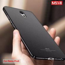 Meizu pro 6 case original Msvii brand Luxury Hard Frosted PC Back Cover 360 Full Protection back cover case Meizu Pro 6s pro6(China)