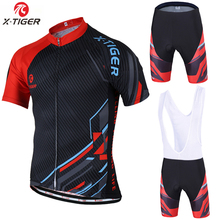 X-Tiger Brand 2017 New Summer Cycling Jersey set Maillot Ropa Ciclismo Bicycle Clothing MTB Bike Uniform With Cycling Bib Shorts