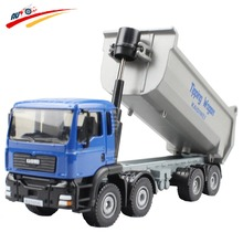 Alloy 1:50  Tipping Wagan Dump Truck Diecast   Vehicle Model Toy Opening Cab Hood Panels to Reveal the Engine
