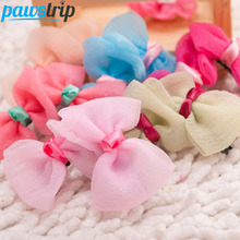 10pcs/lot Princess Dog Hair Bow Wedding Grooming Accessories Puppy Hair Clips 5*3cm