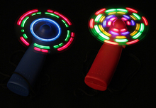 LED Light Fan Portable Flexible Light Up Toys fans one piece Flashing 2pieces(China)