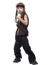 Free shipping!!Ball game show, Halloween party dress, small boy handsome karate warrior costume(China)