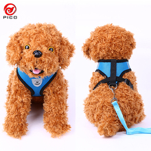 Cute Soft dog collar and leash set Plaid Pet Walking leader Cat service dog vest Harness dogs for sale ZL145-1(China)