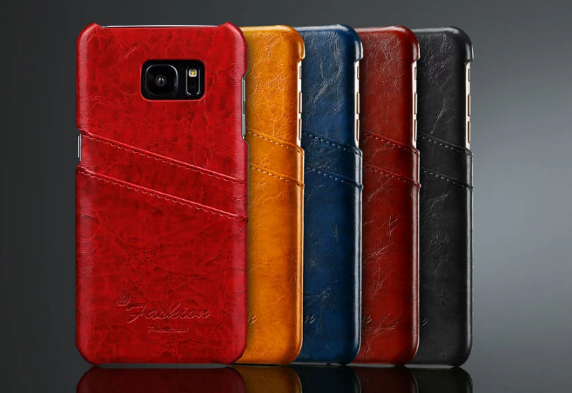 Luxury Leather Case For Samsung Galaxy S5 S6 S7 Edge Plus Note 4 5 Card Pocket Phone Cover PU Leather Back Cases for Men Women