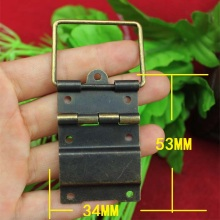 34*53MM Even hinge wire Antique wooden hinge 7 hole metal hinge Wholesale(China)
