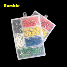 270pcs Portable 22-10AWG Wire Copper Crimp Tube Connector Insulated Cord Pin End Terminal Cable Wire Terminal Kit DIY Hand Tool