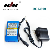 ELEOPTION Portable DC12300 DC 12V 3000mAh Li-ion Super Rechargeable Battery Pack with Plug + Charger For transmitter CCTV camera(China)