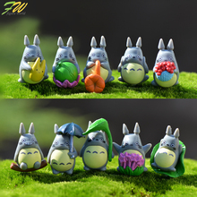 (10pcs/lot) my neighbor Totoro action figure gifts doll cute miniature figurines Toys 1-3cm PVC plactic japanese anime1601129(China)