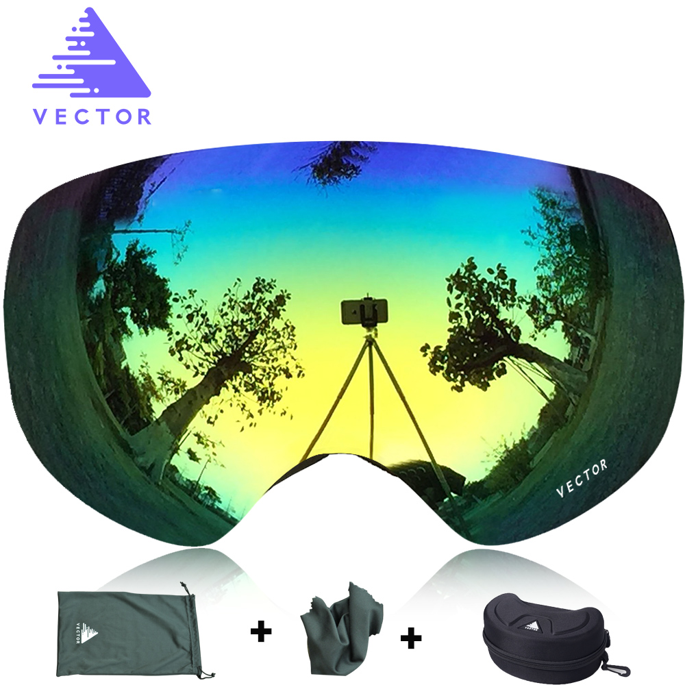 VECTOR Brand Professional Ski Goggles Men Women Anti-fog 2 Lens UV400 Adult Winter Skiing Eyewear Snowboard Snow Goggles Set<br><br>Aliexpress