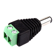 10pcs DC Power Male Jack to 2 Conductor Screw Down Connector for CCTV Power / LED Light Controller video balun ,VD-CA14S(China)