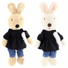 JESONN Dressed Stuffed Animals Rabbits Easter Bunny Soft Plush Toys for Children's Gifts(China)