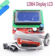 12864 Display LCD 3D Printer Controller +Adapter For RAMPS 1.4 Reprap Mendel GM(China)