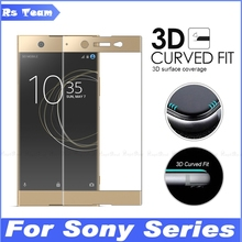 3D Curved Edge Full Cover Screen Protector Film Tempered Glass For Sony Xperia XZS XZ Premium X Compact Performance XA XA1 Ultra