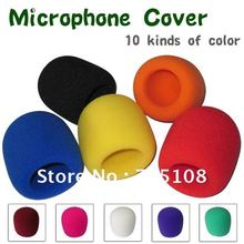 on stage microphone high density windscreen foam cover audio foam microphone windshield color free shipping 10pcs lot(China)