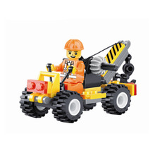 52pcs/set Building Blocks City Engineering Team Assemble DIY Toy small crane Early Educational Toy for Kids Children