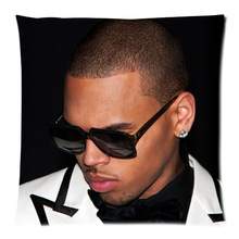 Personalized Popular Singer Star Chris Brown TattooThrow Pillow cover Good Quality Pillow Case Covers 35x35-PC35-356