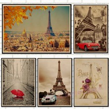 Retro poster France Paris Eiffel Tower Poster Kraft Paper vintage Posters Wall Sticker Living Room Bar Cafe Decor/50052