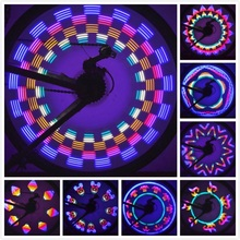 New Arrival 42 Patterns 32 Colorful LED Bicycle Cycling Lights Wheel Spoke Light Lamp Waterproof Drop Shipping